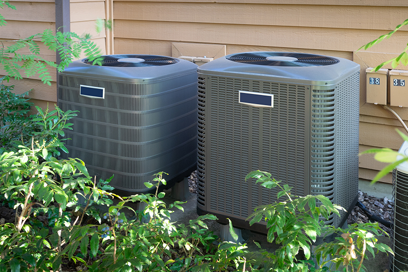 Air conditioning units seen while preforming home inspection services