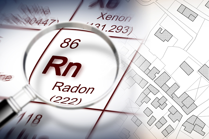 Radon gas searched for while preforming home inspection services